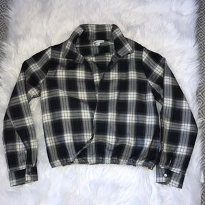 Revolve by the way. plaid open front top